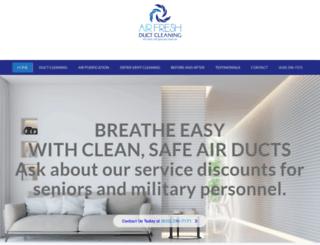 airfreshductcleaning.com screenshot