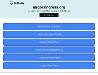 airgbcongress.org screenshot