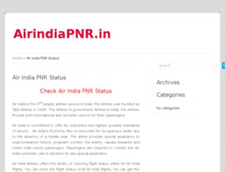 airindiapnr.in screenshot