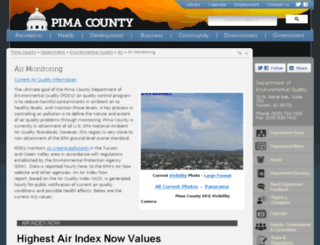 airinfonow.pima.gov screenshot