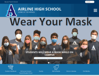 airline.bossierschools.org screenshot