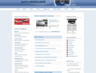 airlinercafe.com screenshot