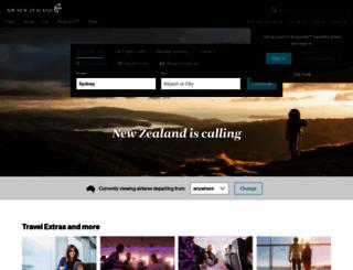 airnewzealand.com.au screenshot