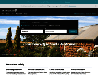 airnz.co.nz screenshot