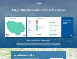airparif.asso.fr screenshot