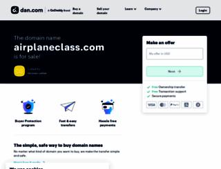 airplaneclass.com screenshot