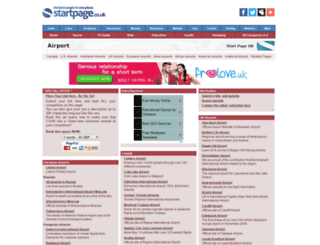 airport.page.co.uk screenshot