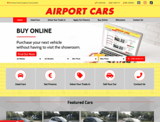 airportcars.ie screenshot