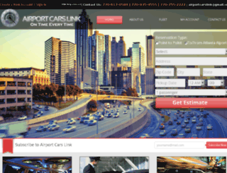 airportcarslink.com screenshot