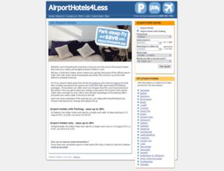 airporthotels4less.co.uk screenshot
