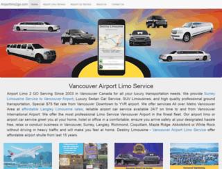 airportlimo2go.com screenshot