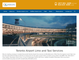 airportlimostoronto.com screenshot