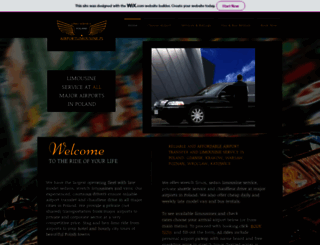 airportlimousine.pl screenshot