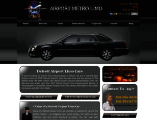 airportmetrolimo.com screenshot