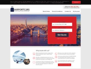 airportscars.co.uk screenshot