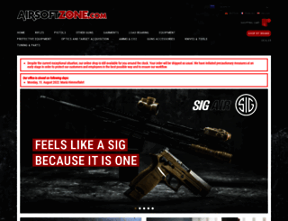 airsoftzone.com screenshot