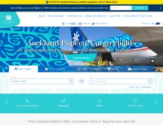 airtahitinui.com.au screenshot
