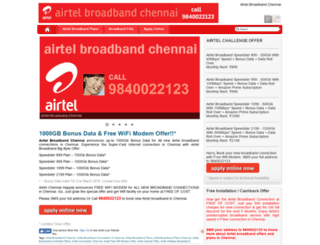 airtelconnectionchennai.com screenshot