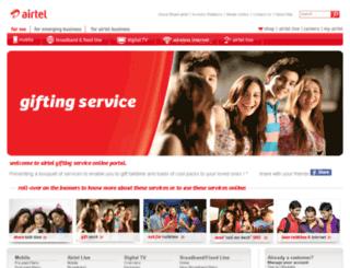 airtelgiftingservice.com screenshot