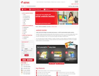 airtelwebsitebuilder.com screenshot