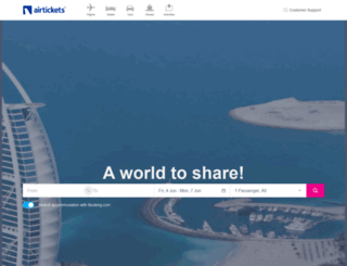 airtickets.com screenshot