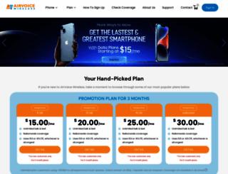 airvoicewireless.com screenshot