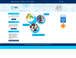 ais.upjs.sk screenshot