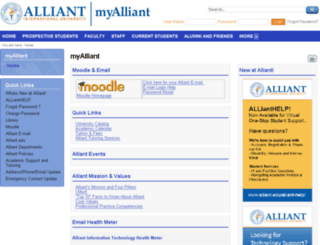 ais1.alliant.edu screenshot