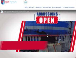 aitm.edu.np screenshot