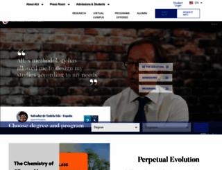 aiu.edu screenshot