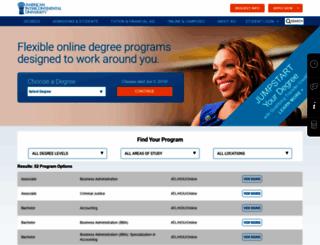 aiuonline.edu screenshot