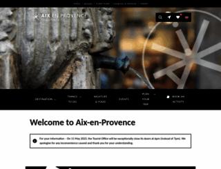aixenprovencetourism.com screenshot