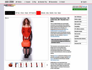 ajax-zoom.com screenshot