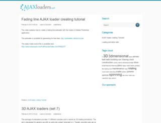 ajaxloaders.net screenshot