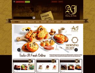 ajbakery.com screenshot