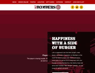 ajbombers.com screenshot
