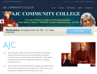 ajccommunitycollege.com screenshot