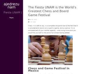 ajedrezunam.mx screenshot