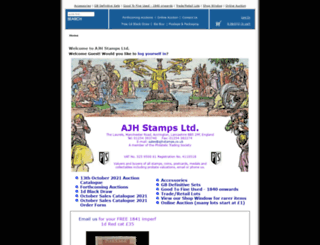 ajhstamps.co.uk screenshot