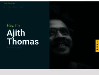 ajiththomas.com screenshot