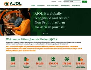 ajol.info screenshot