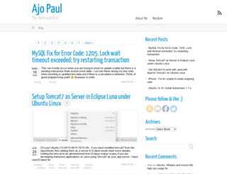ajopaul.com screenshot