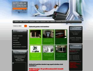 ajtoablakcentrum.com screenshot