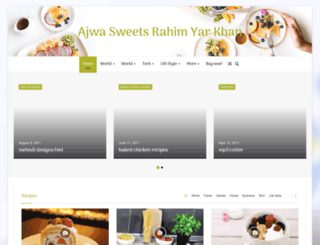 ajwasweets.com screenshot