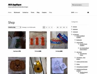 akaapplique.com screenshot