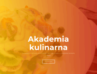 akademia-kulinarna.pl screenshot