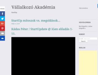 akademia.vallalkozasiotletek.com screenshot