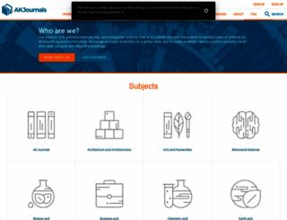 akademiai.com screenshot