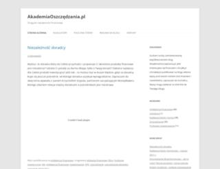 akademiaoszczedzania.pl screenshot