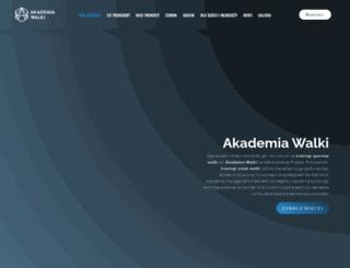 akademiawalki.com screenshot